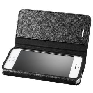 GRAMAS COLORS PUレザー手帳型ケース EURO Passione ブラック iPhone SE/5s/5
