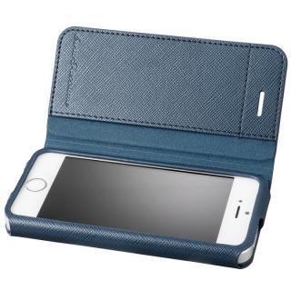 GRAMAS COLORS PUレザー手帳型ケース EURO Passione ネイビー iPhone SE/5s/5