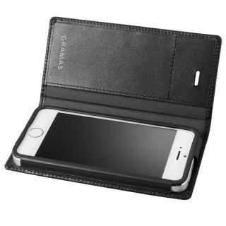 GRAMAS フルレザー手帳型ケース ブラック iPhone SE/5s/5