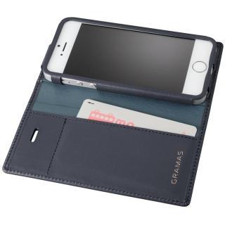【iPhone SE/5s/5ケース】GRAMAS フルレザー手帳型ケース ネイビー iPhone SE/5s/5_1