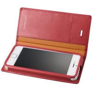 GRAMAS フルレザー手帳型ケース レッド iPhone SE/5s/5