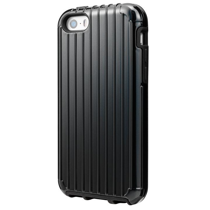 GRAMAS COLORS Rib ハイブリッドケース ブラック iPhone SE/5s/5【7月下旬】