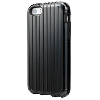GRAMAS COLORS Rib ハイブリッドケース ブラック iPhone SE/5s/5