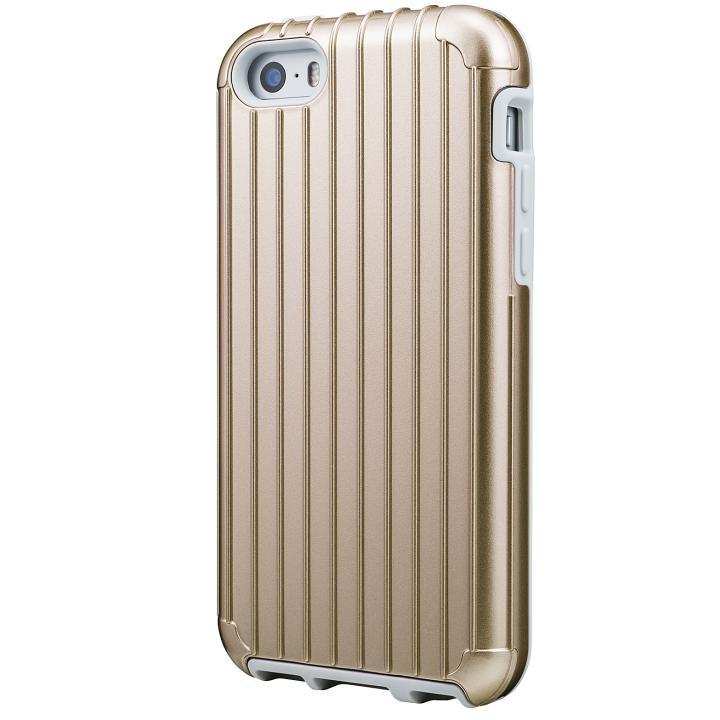 iPhone SE/5s/5 ケース GRAMAS COLORS Rib ハイブリッドケース ゴールド iPhone SE/5s/5_0