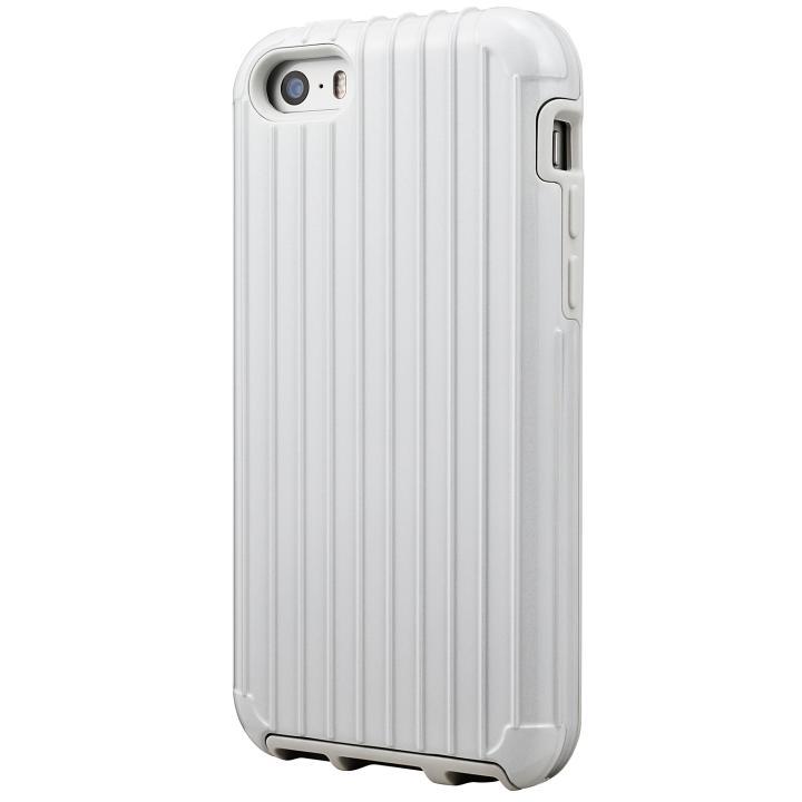 iPhone SE/5s/5 ケース GRAMAS COLORS Rib ハイブリッドケース ホワイト iPhone SE/5s/5_0