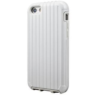 GRAMAS COLORS Rib ハイブリッドケース ホワイト iPhone SE/5s/5