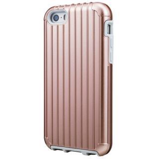 GRAMAS COLORS Rib ハイブリッドケース ローズゴールド iPhone SE/5s/5
