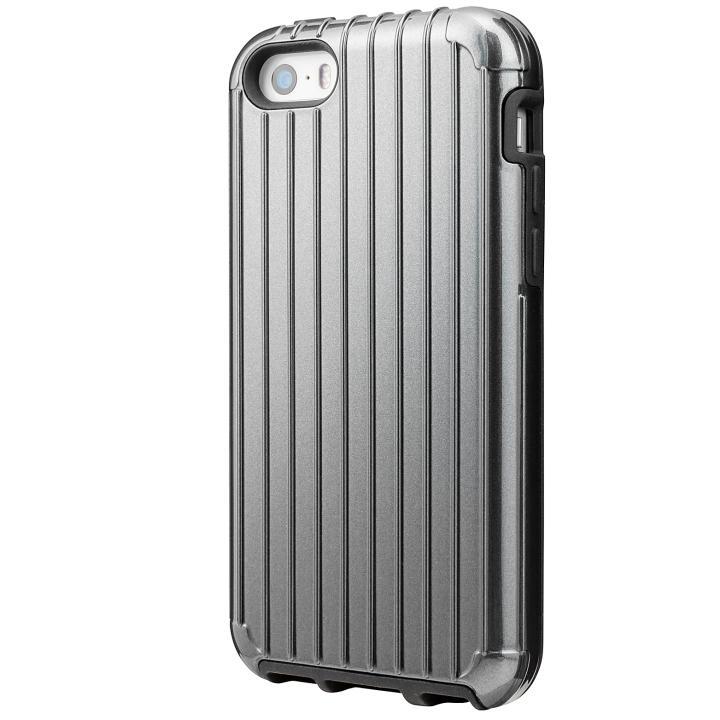 GRAMAS COLORS Rib ハイブリッドケース グレイ iPhone SE/5s/5