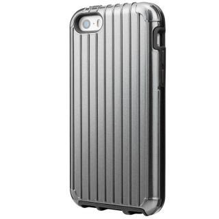 【iPhone SE/5s/5ケース】GRAMAS COLORS Rib ハイブリッドケース グレイ iPhone SE/5s/5