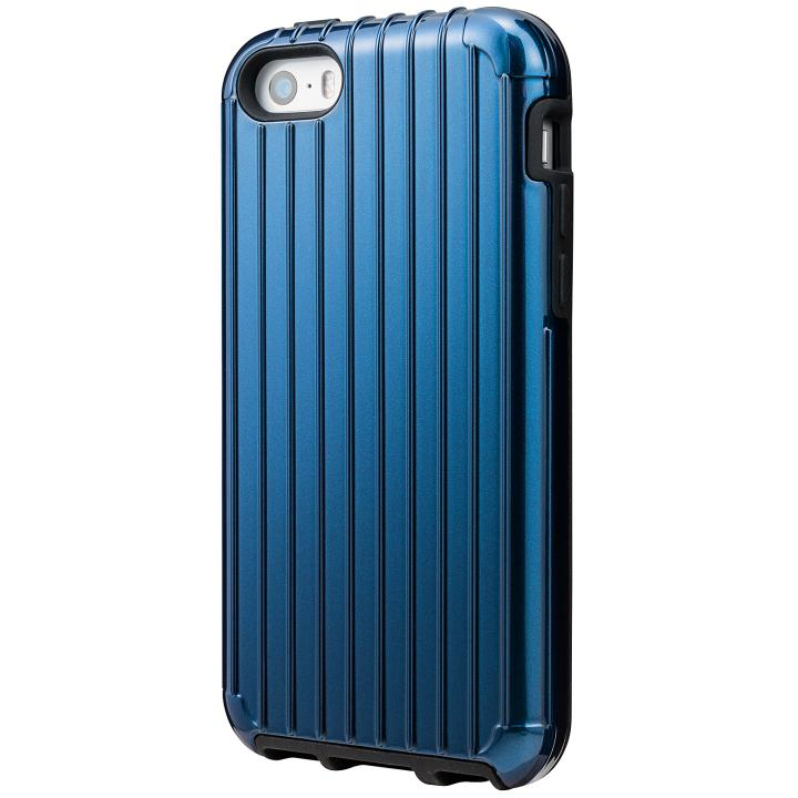 iPhone SE/5s/5 ケース GRAMAS COLORS Rib ハイブリッドケース ネイビー iPhone SE/5s/5_0