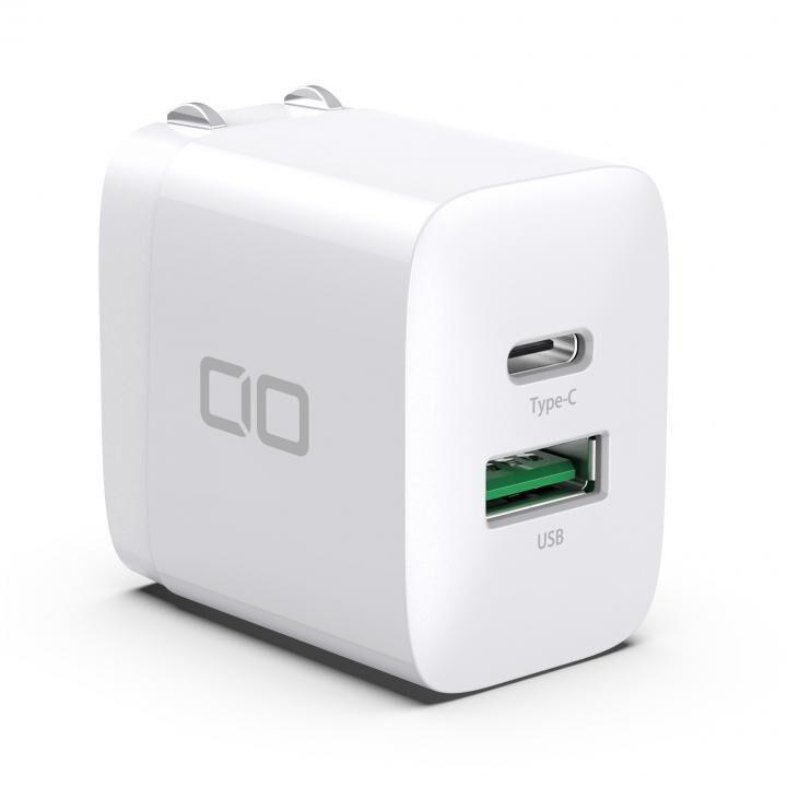 超コンパクトサイズ 急速充電PD3.0/QC3.0対応 2ポート充電アダプタ ホワイト_0