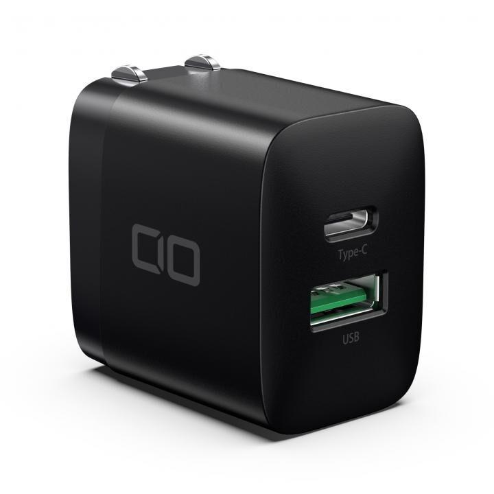 超コンパクトサイズ 急速充電PD3.0/QC3.0対応 2ポート充電アダプタ ブラック_0