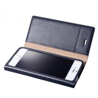 GRAMAS One-Sheet Leather2 ネイビー iPhone SE/5s/5 手帳型ケース