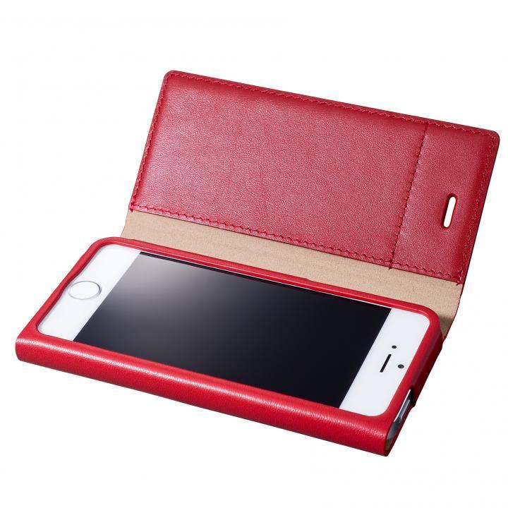 iPhone SE/5s/5 ケース GRAMAS One-Sheet Leather2 レッド iPhone SE/5s/5 手帳型ケース_0