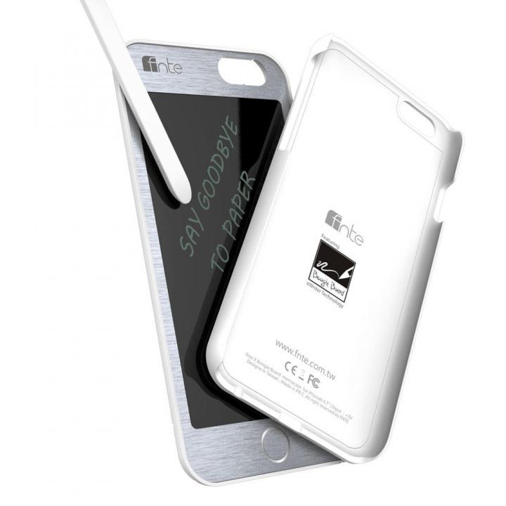 【iPhone6ケース】電子メモケース マグネット脱着タイプ ホワイト iPhone 6_0