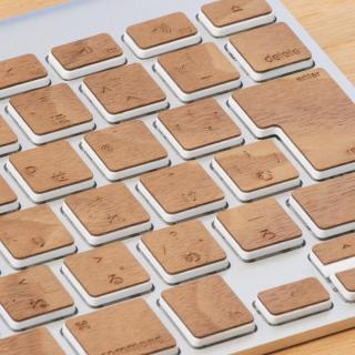 Apple Wireless Keyboard(JIS配列)日本語キーボード ウッドスキン チェリー_3