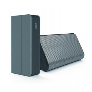 [夏フェス特価]TSST スタンドにもなるフリップカバー付き Bluetoothスピーカー グレー
