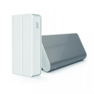 TSST スタンドにもなるフリップカバー付き Bluetoothスピーカー ホワイト