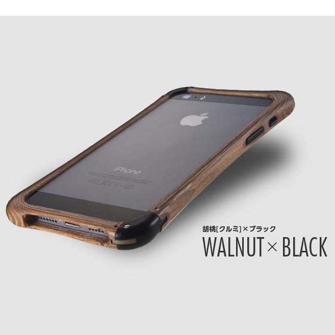 iPhone SE/5s/5 ケース 高級木製バンパー ロティス 胡桃×ブラック iPhone SE/5s/5バンパー_0
