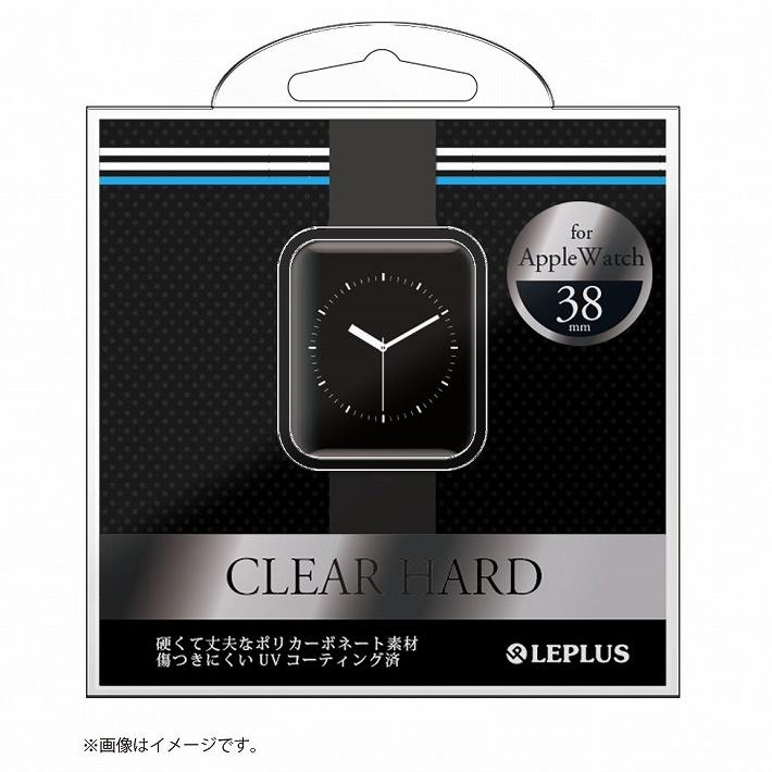 AppleWatch 38mm ハードケース 「CLEAR HARD」 ブラック_0