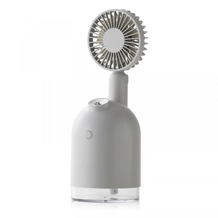 Qurra 4WAY扇風機&加湿器 グレー_0