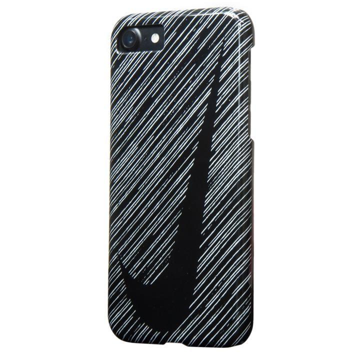 NIKE SWOOSHマーク ハードケース ブラック/ホワイト iPhone 7