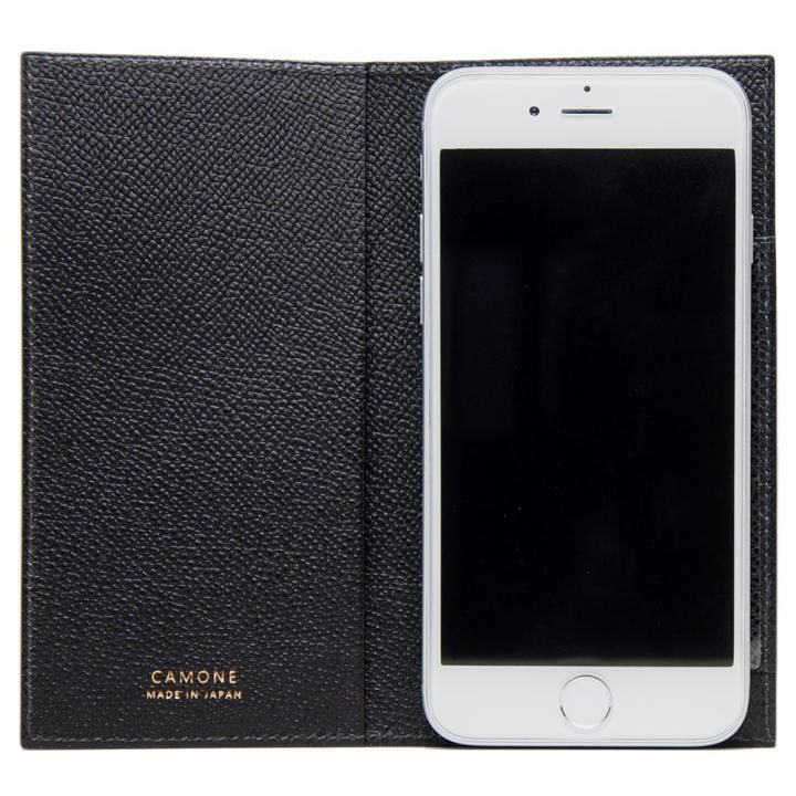 【iPhone7/6s/6ケース】CAMONE Made In Japan 4.7インチ 多機種対応手帳型ケース ブラック_0