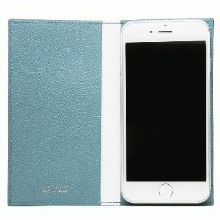 【iPhone7/6s/6ケース】CAMONE Made In Japan 4.7インチ 多機種対応手帳型ケース ライトブルー/ホワイト