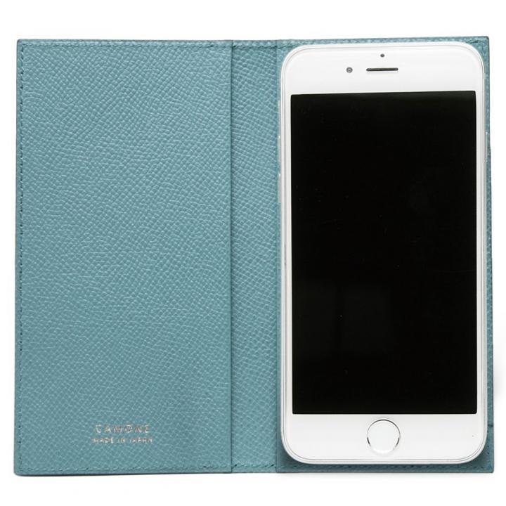 【iPhone7/6s/6ケース】CAMONE Made In Japan 4.7インチ 多機種対応手帳型ケース ブラック/ライトブルー_0