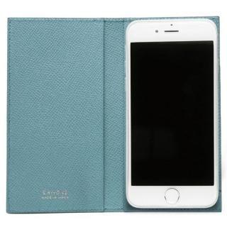 CAMONE Made In Japan 5インチ 多機種対応手帳型ケース ブラック/ライトブルー【7月上旬】