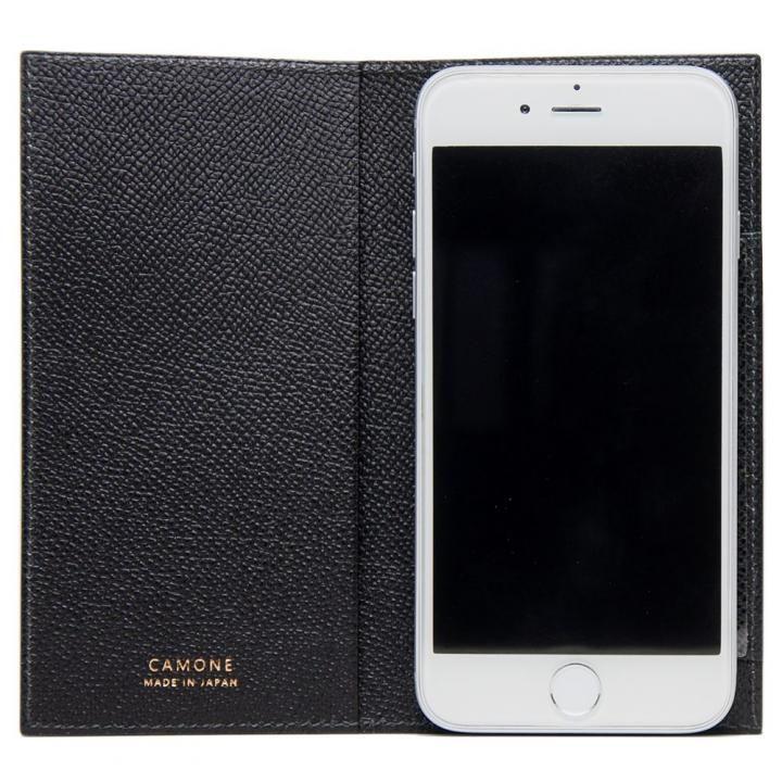 【iPhone7 Plus/6s Plusケース】CAMONE Made In Japan 5.5インチ 多機種対応手帳型ケース ブラック_0