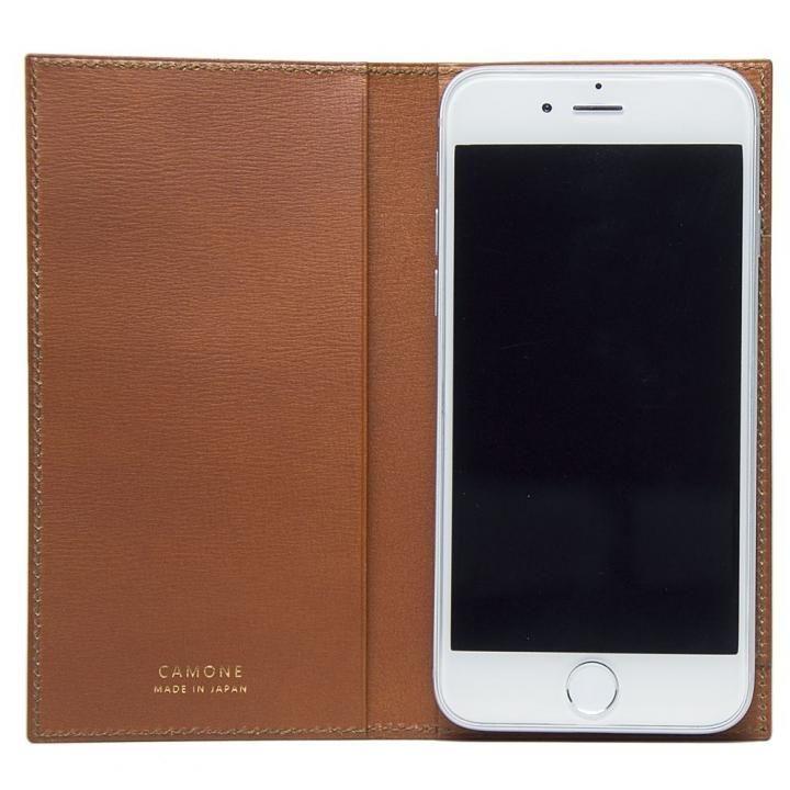 CAMONE Made In Japan 5.5インチ 多機種対応手帳型ケース キャメル【7月下旬】