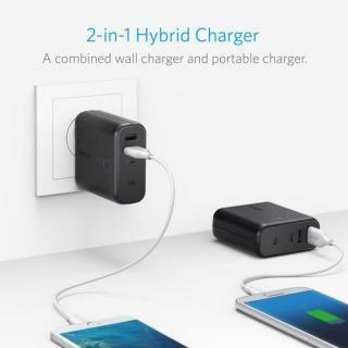 [5000mAh]Anker PowerCore Fusion 5000 USB急速充電器/モバイルバッテリー ブラック【10月下旬】_1