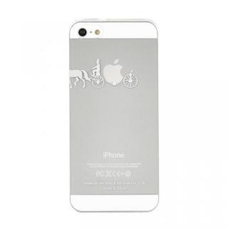 【iPhone SE/5s/5ケース】iPhoneにタトゥーを iTattoo5 carriage of apple  ホワイト iPhone SE/5s/5ケース