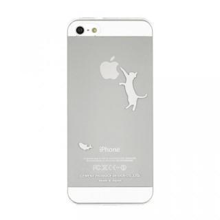 iPhoneにタトゥーを iTattoo5 Neko Jump ホワイト iPhone SE/5s/5ケース