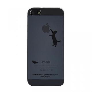 iPhoneにタトゥーを iTattoo5 Neko Jump ブラック iPhone SE/5s/5ケース