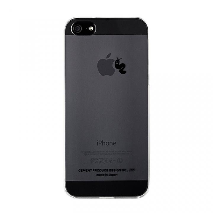 iPhone SE/5s/5 ケース iPhoneにタトゥーを iTattoo5 Larva Loves Apple ブラック iPhone SE/5s/5ケース_0