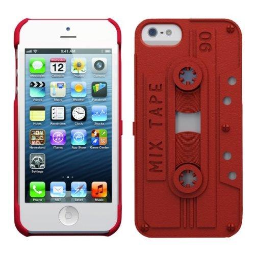 カセットテープ型ケース Freshfiber Cassette レッド iPhone 5s/5ケース 送料無料