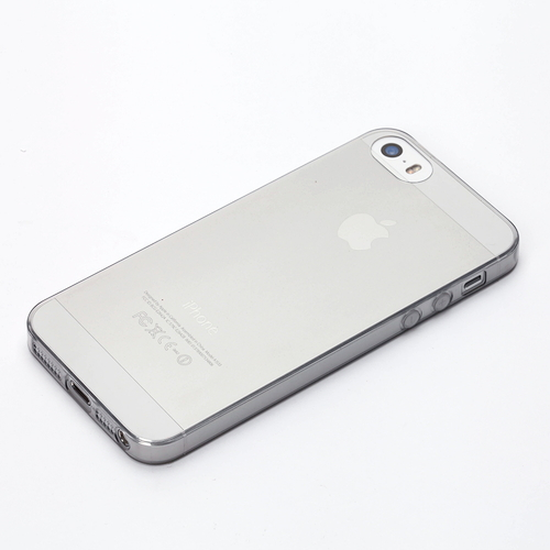 【iPhone SE/5s/5ケース】TPUスーパースリムケース クリアブラック iPhone SE/5s/5ケース_0