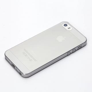 TPUスーパースリムケース クリアブラック iPhone SE/5s/5ケース