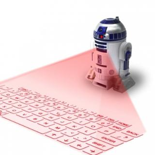 光バーチャルキーボード スター・ウォーズ R2-D2