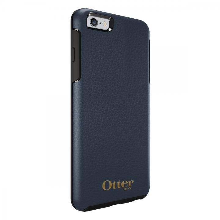 OtterBox Symmetry 耐衝撃レザーケース ネイビー iPhone 6s Plus/6 Plus