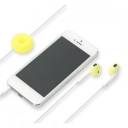 Apple EarPods専用 シリコン製イヤホンカバー イエロー