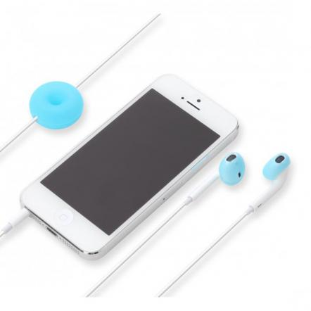 Apple EarPods専用 シリコン製イヤホンカバー シアン