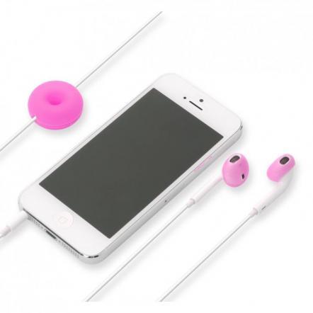 Apple EarPods専用 シリコン製イヤホンカバー マゼンタ