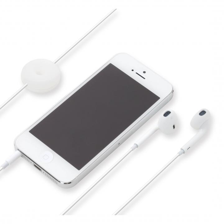 Apple EarPods専用 シリコン製イヤホンカバー ホワイト_0