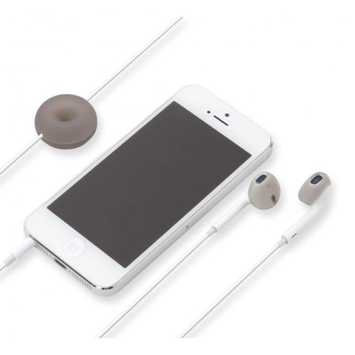 Apple EarPods専用 シリコン製イヤホンカバー ブラック_0