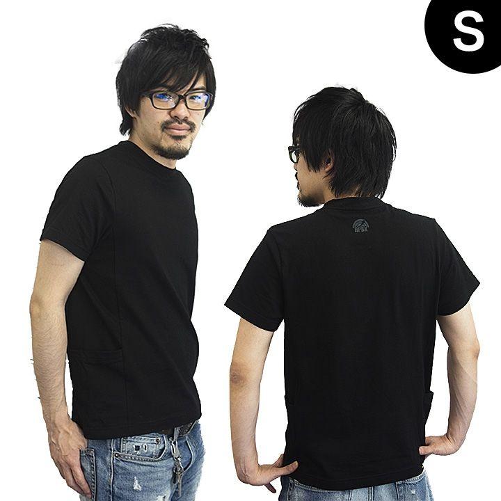UPBK サイドポケットTシャツ ブラック Sサイズ_0