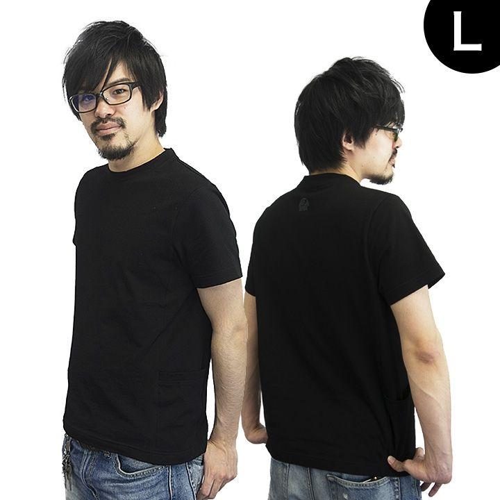 UPBK サイドポケットTシャツ ブラック Lサイズ_0