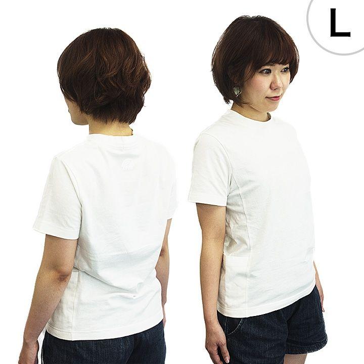 UPBK サイドポケットTシャツ ホワイト Lサイズ_0